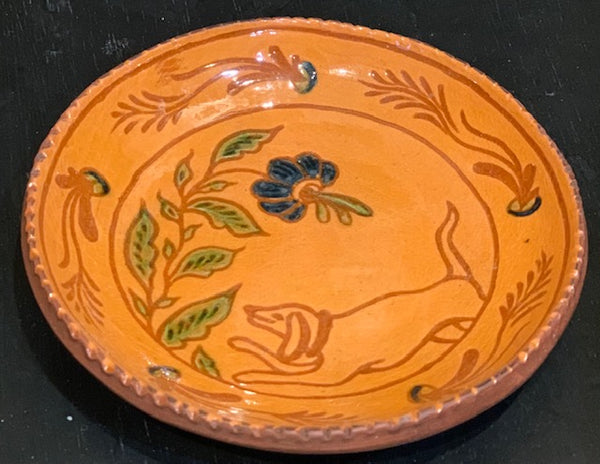 "Dog"" Crocker & Springer Redware Plate - Only 1 available"