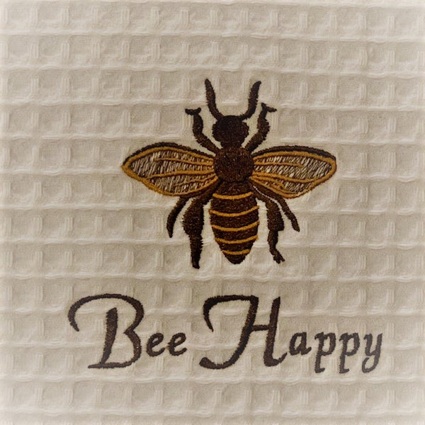BEE Happy Embroidered Towel