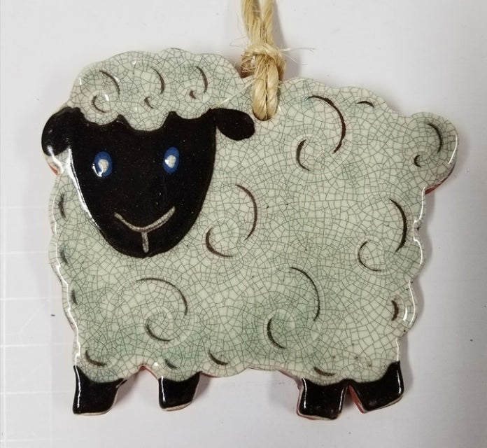 Redware Lamb Ornament