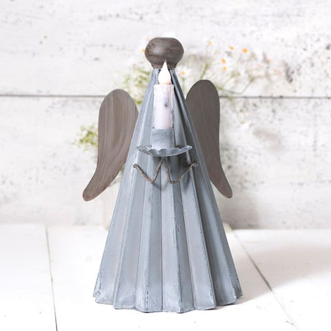 Tin Angel Candleholder