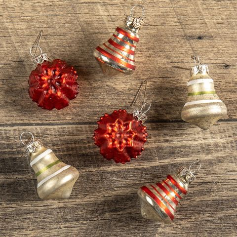 Bell and Snowflake Ornaments