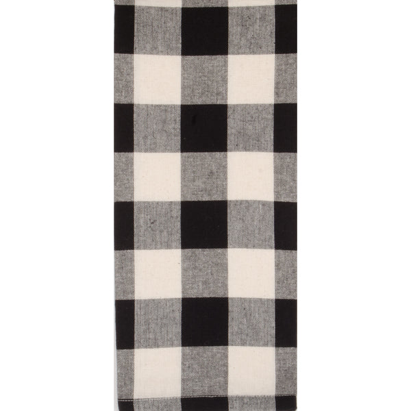Buffalo Check Table Runner, Black & Buttermilk