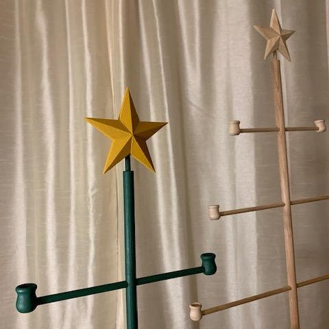 Wood Dowel Tree with Star