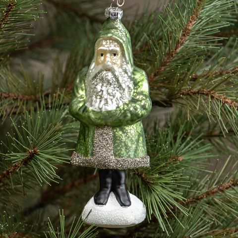 Mercury Glass Santa
