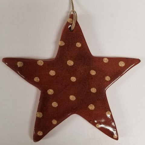 Redware Star Ornament