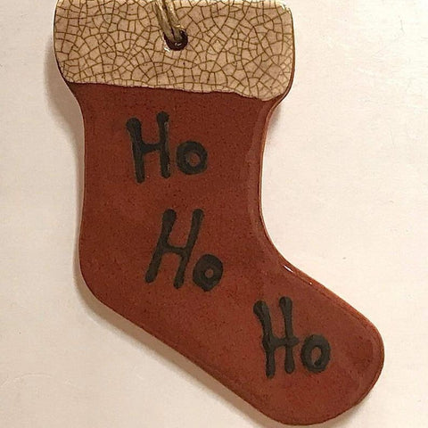 Redware Stocking Ornament