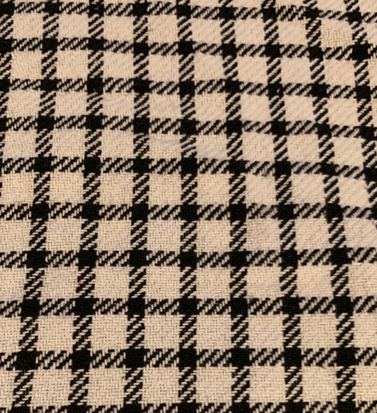 Runner, Farmhouse Check Pattern, White/Black