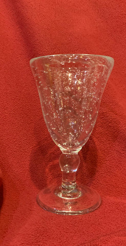 "7""  Blown Glass Baluster Goblet"