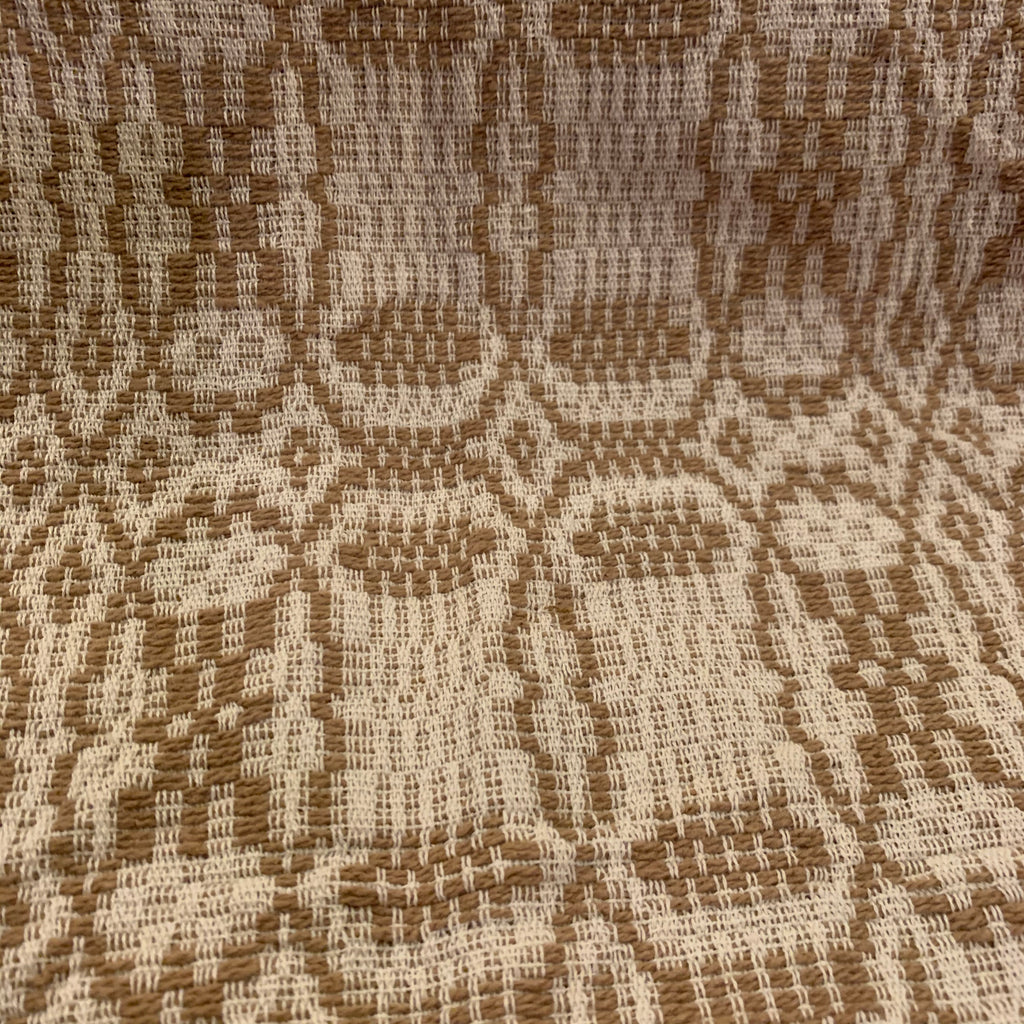 Small Table Square, Shaker Cross Pattern, Creme/Sand