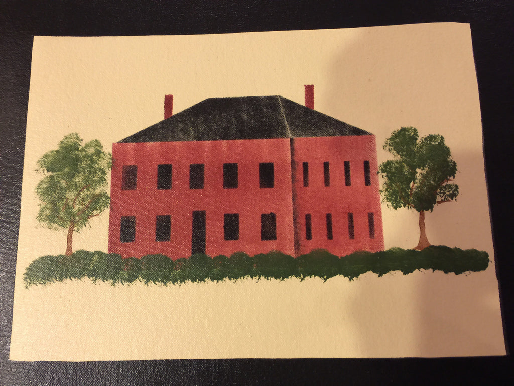 Red House Stenciled Placemat