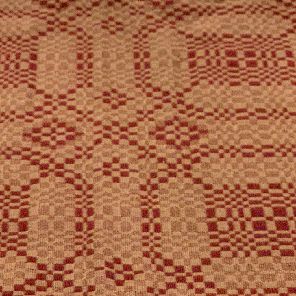 Runner, Oakdale Weave Pattern, Cranberry/Tan