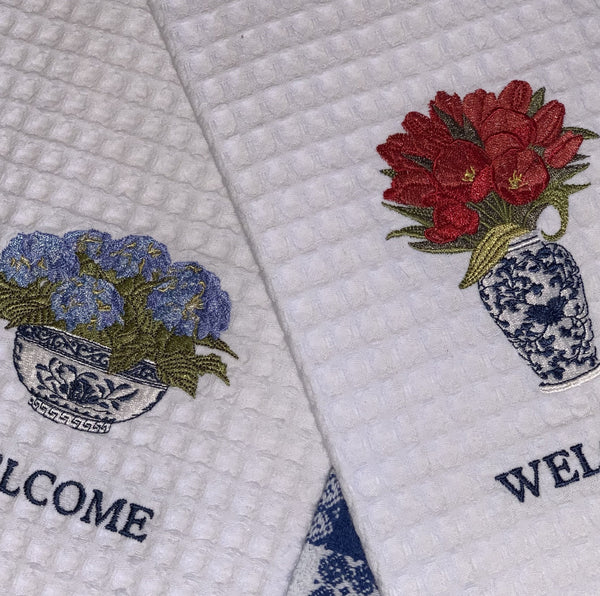Floral Welcome Towels