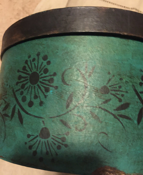 Teal Green Floral (set of two boxes)