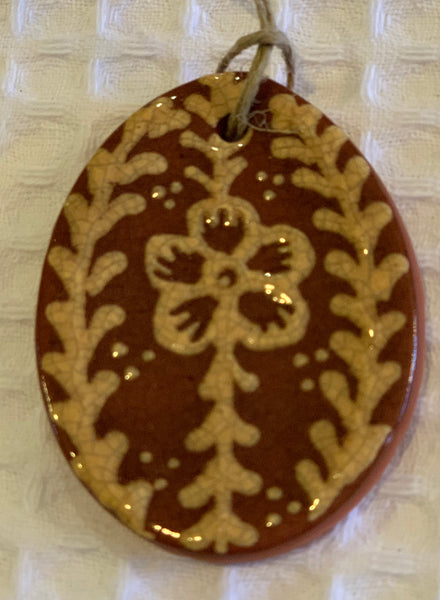 Traditional Redware Egg Ornaments