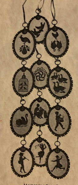 12 Days of Christmas Silhouette Ornaments