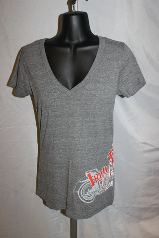 Ladies Side Moto Short Sleeve