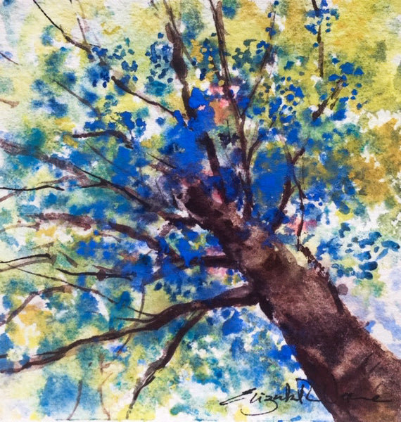 Painting - look up series:  into the sunshine