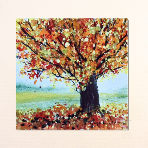 Painting - Autumn oak
