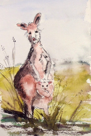Paintings - critters. Kanga and roo