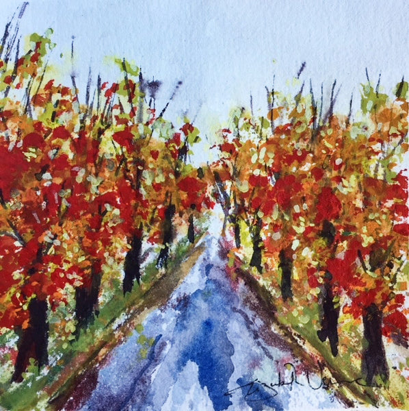 Painting - Autumn road