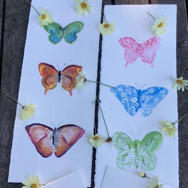 Painting - Butterfly flighty trio