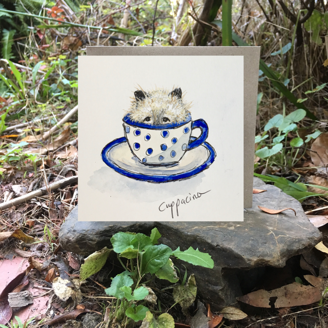 Card (Coffee cats collection) - Cuppacino
