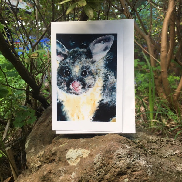 Card (LARGE Tracks collection) - Yellow Bellied Glider