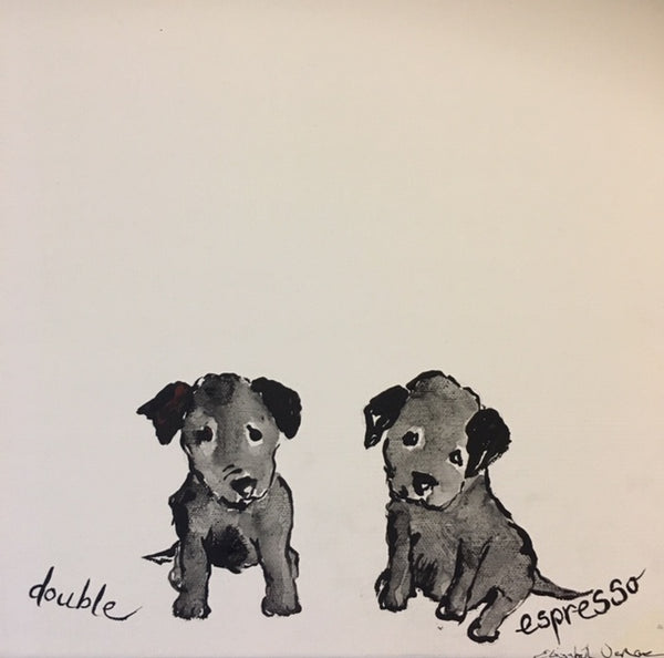 Painting - Coffee Dogs Collection, Double Espresso