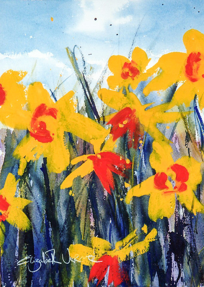 Print - Watercolour daffodils