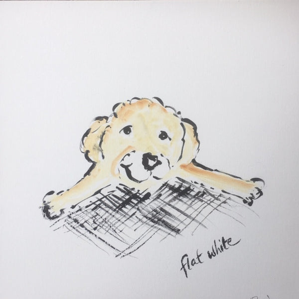 Painting - Coffee Dogs Collection, Flat White