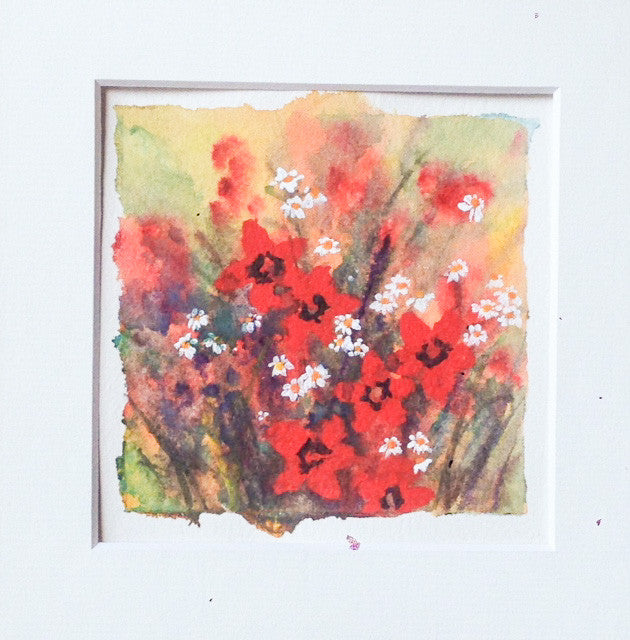 Painting - wee washy flowers