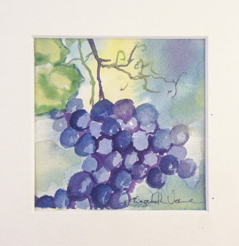 Painting - grapes on vine