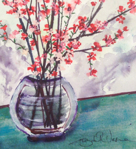 Painting - wee vase of spring