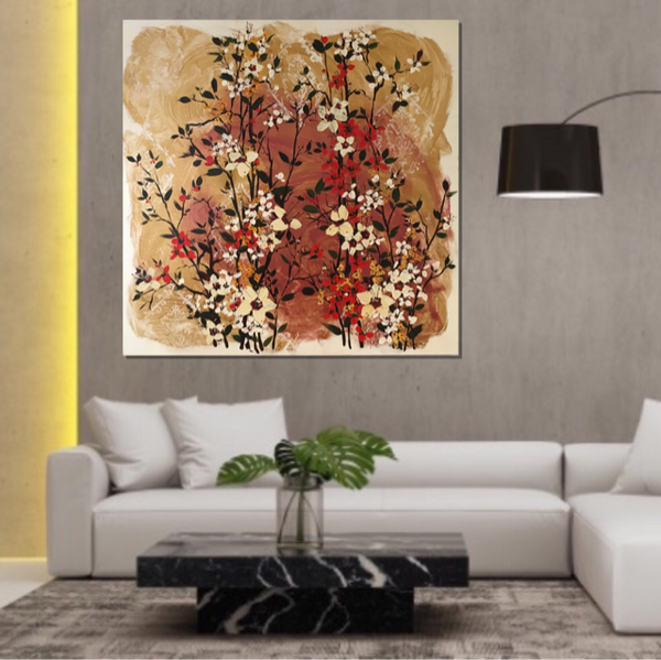 Painting (large) - Golden Blossom