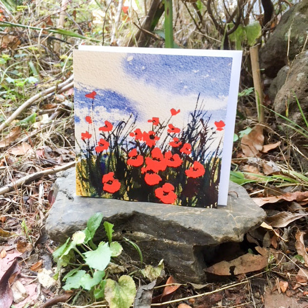 Card (Australian landscape collection) - Poppies