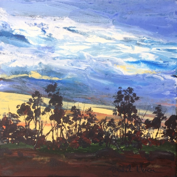 Painting - landscape series, Moody Sky