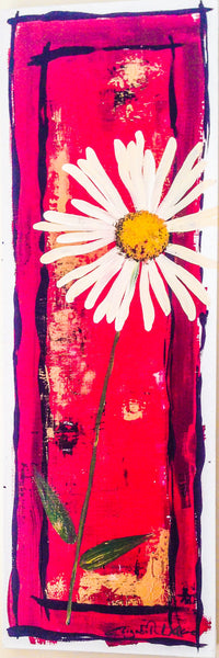 Painting mix & match collection - Big fat crimson daisy