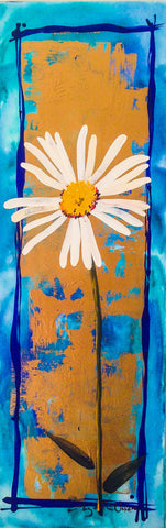 Painting mix & match collection - Big fat turquoise daisy
