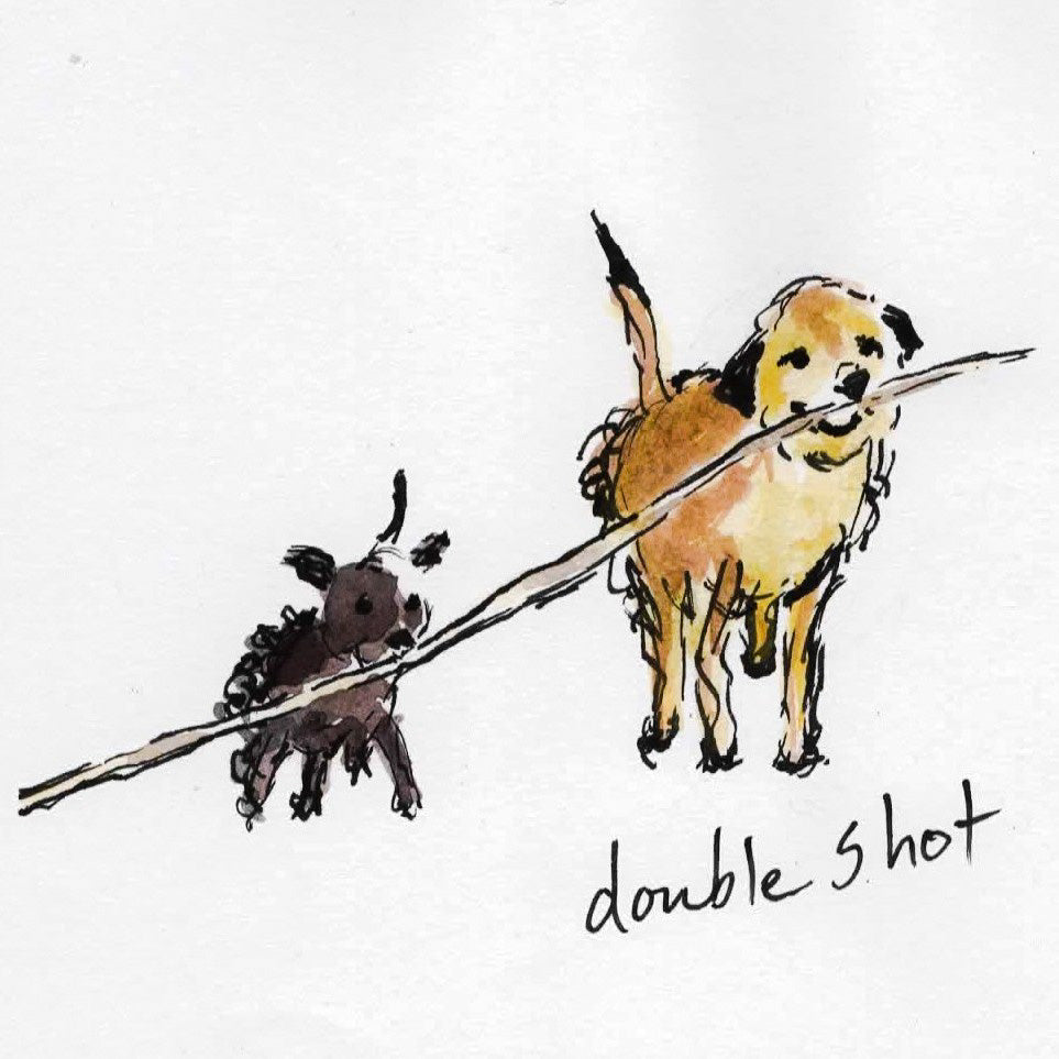 Card (Coffee dogs collection) - double shot