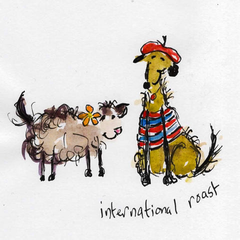 Card (Coffee dogs collection) - international roast