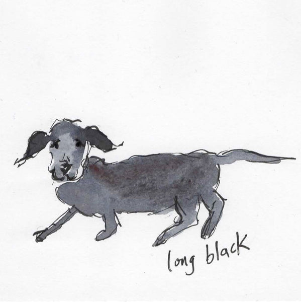 Card (Coffee dogs collection) - long black