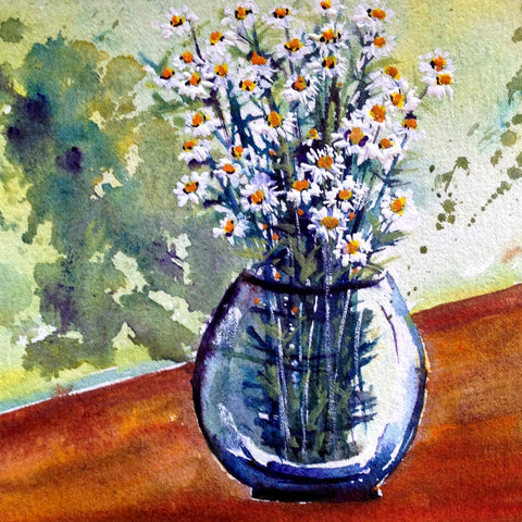 Card (Floral collection) - Daisy vase