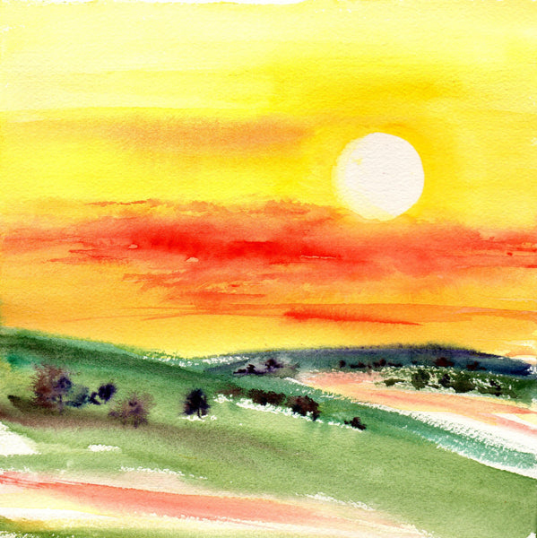Card (Australian landscape collection) - Sunshine morning
