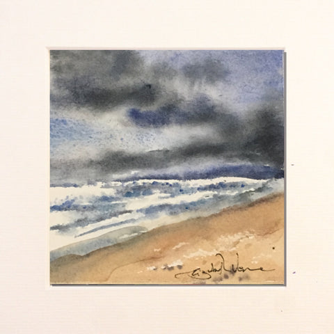 Painting - wee stormy seascape