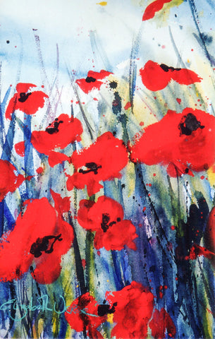 Print - Watercolour Poppies