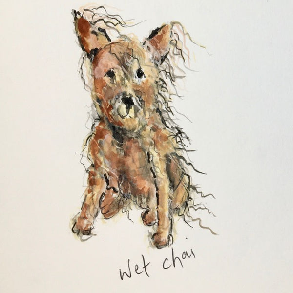 Card (coffee dogs collection) - Wet chai