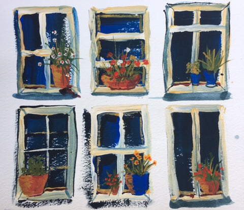 Painting - Window pot studies