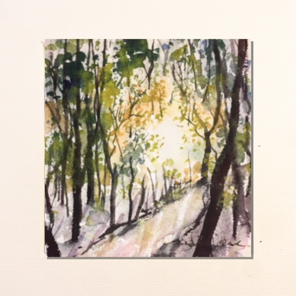 Painting - winter path