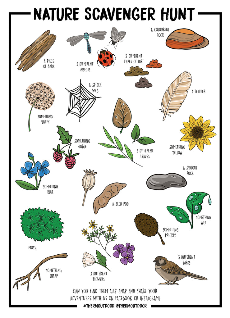 photograph about Printable Nature Scavenger Hunt known as Character Scavenger Hunt - Printable Therm Outside