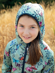 All-Weather Hoodie - Garden Butterfly | Waterproof Windproof Eco